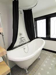 Black And White Modern Bathroom by Bathroom Small Bathroom Design With Cozy Clawfoot Tubs And