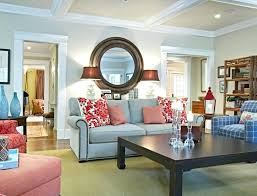 living room with red accents a beach cottage black and white and red all over hooked red