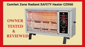 Comfort Zone Quartz Heater Comfort Zone Portable Heater Test U0026 Review Youtube