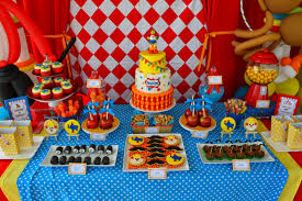 Carnival Themed Table Decorations Partylicious Carnival Birthday