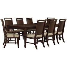 city furniture canyon mid tone rectangular dining room
