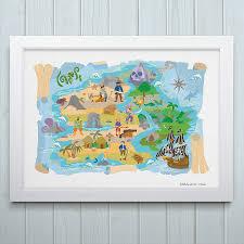 Treasure Island Map Treasure Island Pirate Map Print From Art Adventure