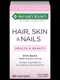 hair skin u0026 nails 3 000 mcg of biotin 60 nature u0027s bounty