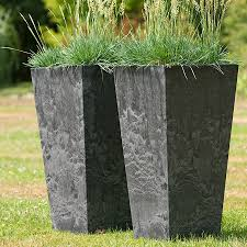 dark grey rustic ellas tall vase planter 70cm tall vases dark