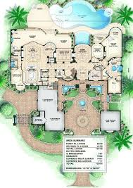 house plans with attached guest house home plans with outdoor pools house plans with pool on the side