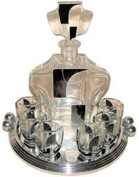 art deco crystal ring holder images Art deco smoking stand the piece that looks like a microphone is jpg