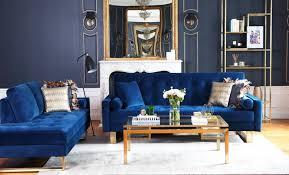 canapé velours bleu canapé en velours bleu guide déco nv gallery