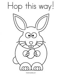 baby bunny coloring pages toddlers 98602
