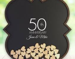 50th anniversary guest book personalized wood wedding guest book rustic guestbook personalized