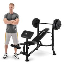 Weights And Bench Set Marcy Standard Bench W 80 Lb Weight Set Quality Strength