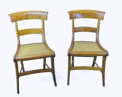Bertolini Chairs C 1840 Pair American Tiger Maple Chairs Bertolinico Com