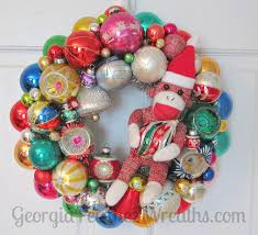 346 best vintage christmas ornament wreaths images on pinterest
