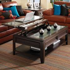 glass top end table with drawer espresso furniture inspiring espresso lift top coffee table with ribbed