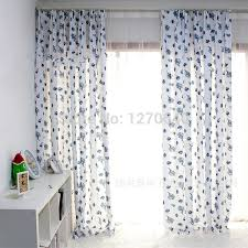 Country Style Kitchen Curtains by Country Style Kitchen Curtains Blue Floral Simplex Printing Semi