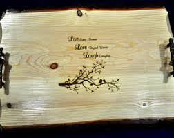 engraved serving tray wedding gift to parents engraved photo on wood engraved