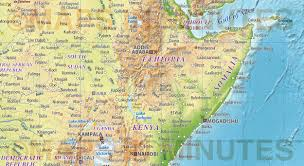 Detailed Map Of Africa by Digital Vector Political World Map With Relief Terrain For Land