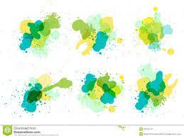 vector watercolor splatter stock vector image of green 28152141