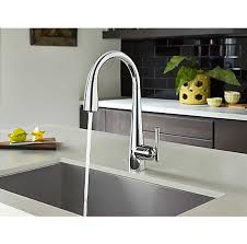 Touch Free Kitchen Faucets by Polished Chrome Lita Touch Free Pull Down Kitchen Faucet With