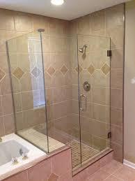Tile Shower Door by Bathroom Small Glass Dreamline Shower Door Decor With Chrome