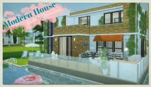 Houses With Pools Sims 4 Building On Newcrest Modern House With Pool Build