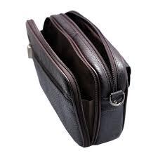 Cowhide Leather Purses Mens Handbag Brown Cowhide Leather Crossbody Bag Vidlea