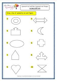 grade 3 maths worksheets 14 4 geometry symmetrical and non