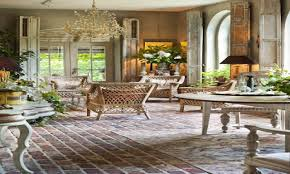 french room decor french country brick flooring french country