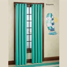Turquoise Blackout Curtains Carnivale Heavyweight Blackout Grommet Curtain Panels
