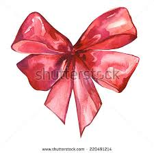 decorative bows watercolor colorful isolated decorative bows ribbon stock