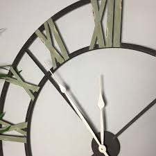 rustic oversized iron skeleton clock ironwork cut out clock