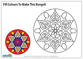Design for Rangoli  Colouring Pages for Kids  Mocomi