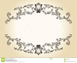 vector vintage frame ornaments royal document royalty free stock