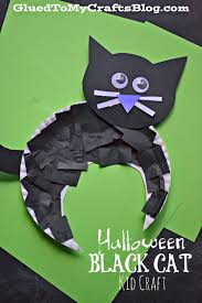 Halloween Crafts For Kindergarten Halloween Black Cat Kid Craft Halloween Black Cat Black Cats