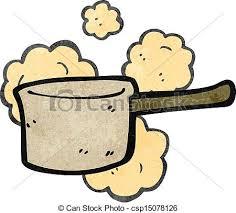 dessin casserole cuisine dessin animé retro casserole cuisine illustration vectorielle