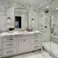 black marble bathroom dark brown color wooden vanities double