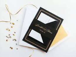 Black Wedding Invitations Wedding Invitation Of The Week