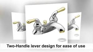 Moen Bathroom Faucet by Moen 4551cp Monticello Two Handle Low Arc Lavatory Faucet With