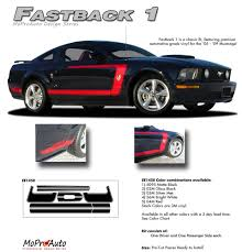 decals for ford mustang mustang fastback 1 2005 2009 ford mustang vinyl graphics and