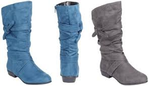 womens boots blue plus size boots that perfectly fit the legs wide calf boots for