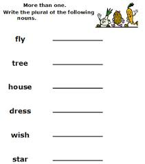 plural words worksheets free printable 2nd grade english