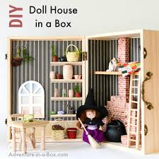 How To Make A Toy Box Easy by Make A Dollhouse In A Box Simple Portable And Fun