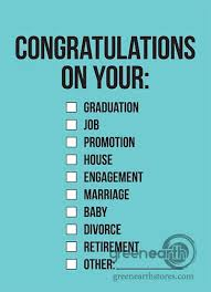 congratulations on your divorce card green earth stores 00100000262 card congratulations on your