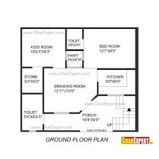 How Big Is 550 Square Feet House Plan For 25 Feet By 24 Feet Plot Plot Size 67 Square Yards