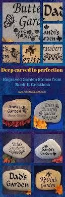 Engraved Garden Rocks Engraved Garden Stones Custom Garden Rocks Engraved Garden