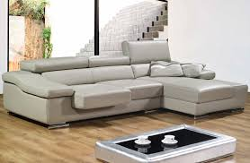 soft grey leather couch with l shape combined with folding high