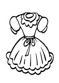 doll dress coloring page for girls printable free coloriage
