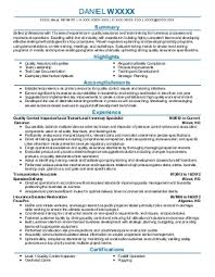 Quality Control Inspector Resume Sample by Qa Inspector Resume Examples