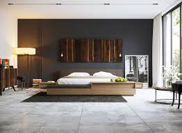gorgeous dark bedroom designs with minimalist and playful approach