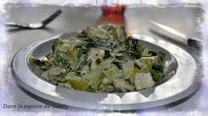 recette boursin cuisine poulet sauté de poulet aux poireaux sauce boursin cuisine échalote