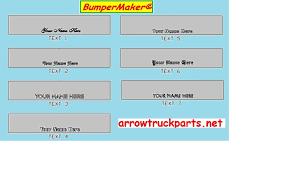 bumpermaker international 4700 4900 7100 8100 8200 u0026 8300 bumper